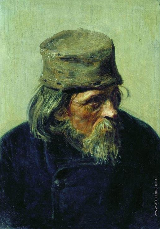 Репин И. Е. Продавец ученических работ в Академии художеств