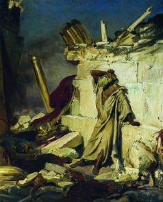Репин И. Е. Плач пророка Иеремии на развалинах Иерусалима