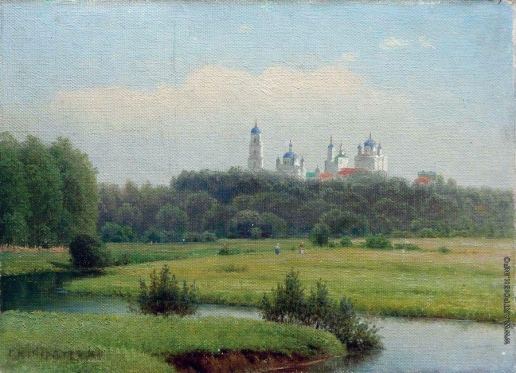 Кондратенко Г. П. Летний пейзаж. Вид на монастырь.