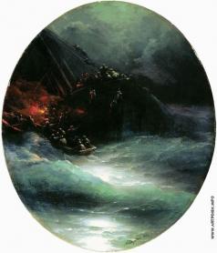 Айвазовский И. К. Гибель корабля (Крушение купеческого судна в открытом море)