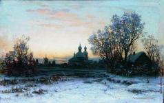 Кондратенко Г. П. Зимний пейзаж с церковью