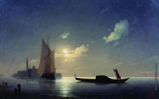 Айвазовский И. К. Гондольер на море ночью