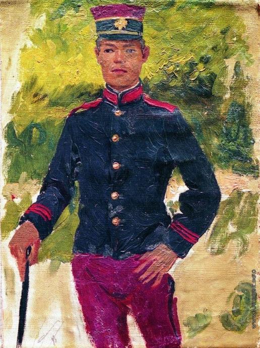 Репин И. Е. Молодой солдат. Парижский тип. Этюд