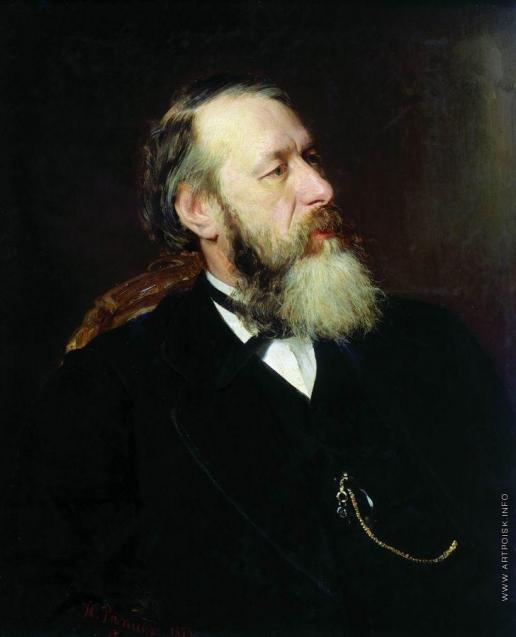 Репин И. Е. Портрет критика В.В.Стасова