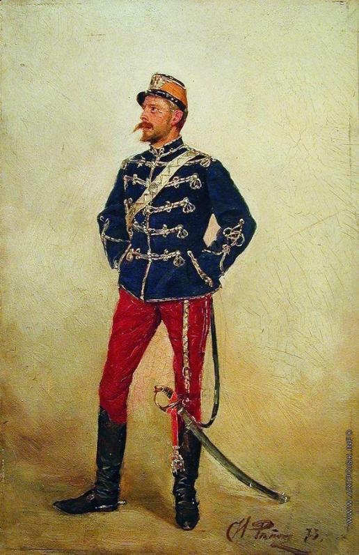 Репин И. Е. Молодой мужчина в военной форме
