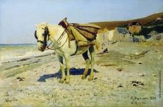 Репин И. Е. Лошадь для сбора камней в Вёле