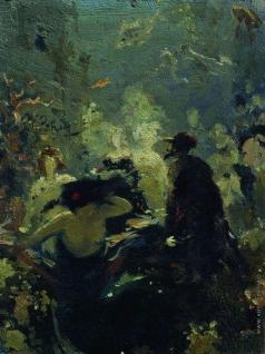 Репин И. Е. Садко в подводном царстве. Эскиз к одноименной картины (1876, ГРМ)