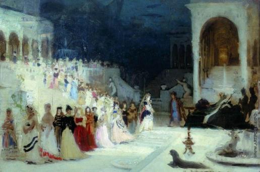 Репин И. Е. Сцена из балета. Этюд