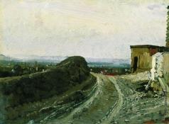 Репин И. Е. Дорога на Монмартр в Париже