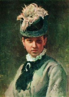 Репин И. Е. Портрет В.А.Репиной, жены художника
