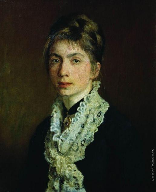 Репин И. Е. Портрет М.П.Шевцовой, жены А.А.Шевцова