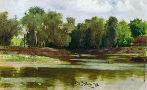 Репин И. Е. Берег реки