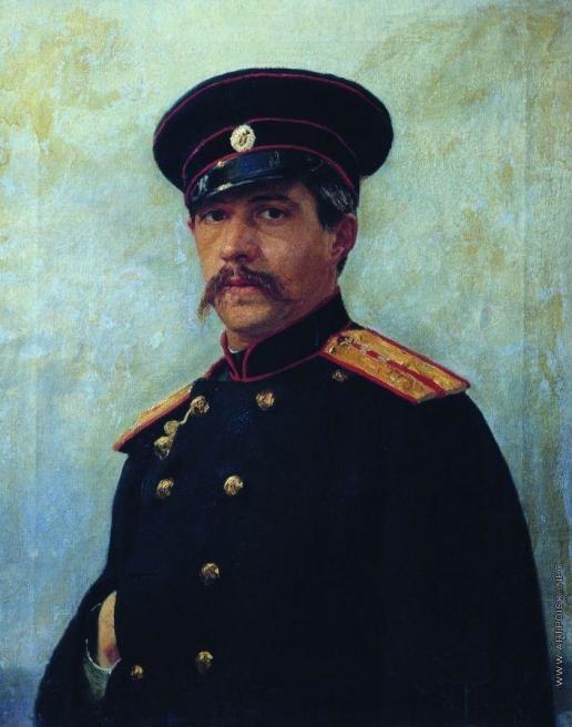 Репин И. Е. Портрет военного инженера, штабс-капитана А.А.Шевцова, брата жены художника