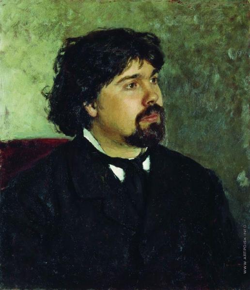 Репин И. Е. Портрет художника В.И.Сурикова
