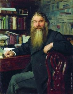 Репин И. Е. Портрет историка И.Е.Забелина