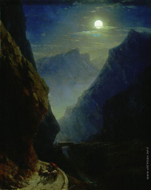Айвазовский И. К. Дарьяльское ущелье в лунную ночь
