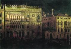 Айвазовский И. К. Дворец Ка д'Ордо в Венеции при луне