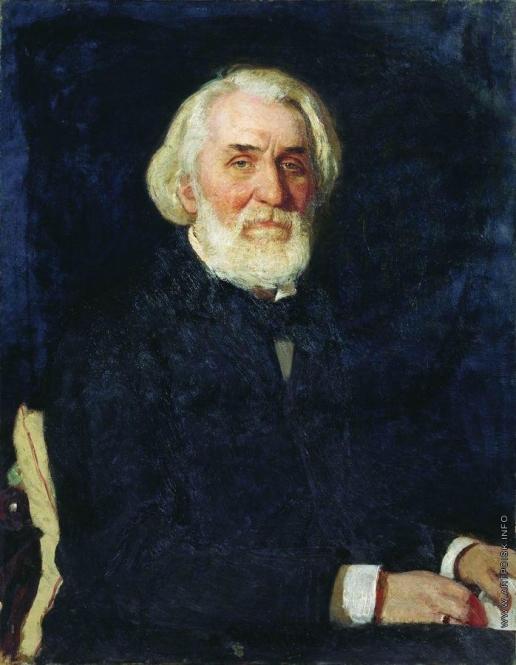 Репин И. Е. Портрет И.С.Тургенева