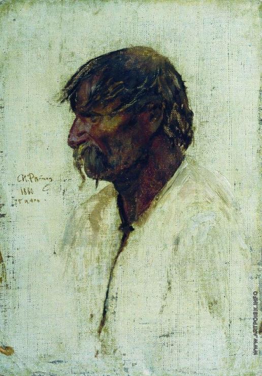 Репин И. Е. Украинский крестьянин. Этюд