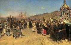 Репин И. Е. Крестный ход в Курской губернии