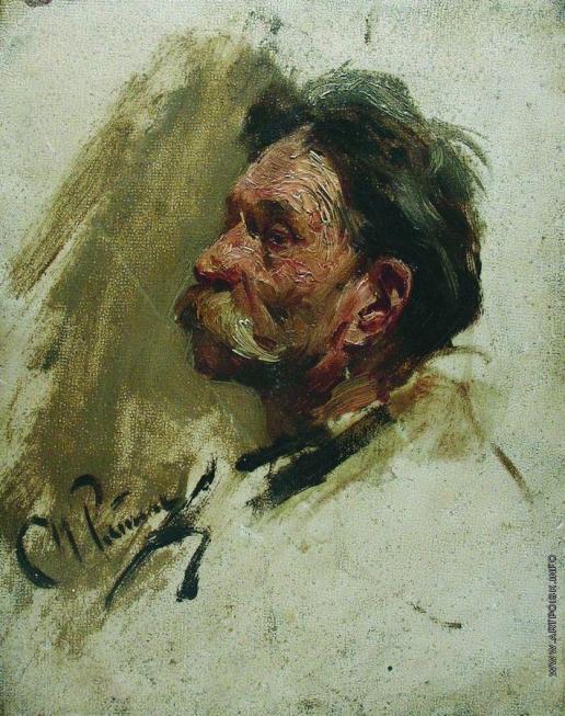 Репин И. Е. Портрет мужика. Этюд