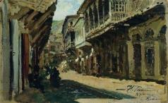 Репин И. Е. Улица в Тифлисе