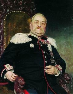 Репин И. Е. Портрет военного инженера А.И.Дельвига