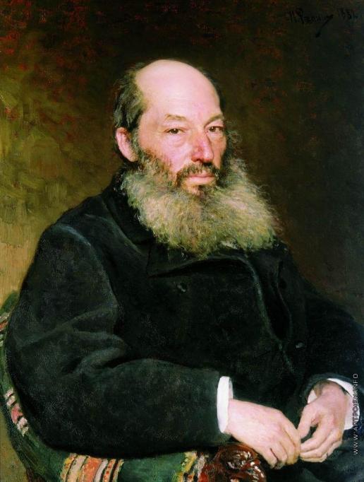 Репин И. Е. Портрет поэта А.А.Фета