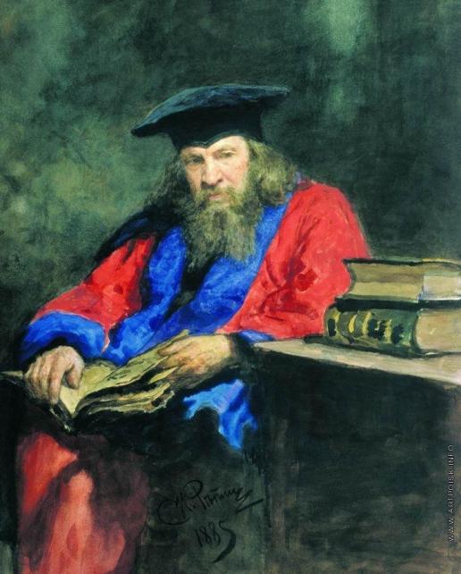 Репин И. Е. Портрет Д.И.Менделеева в мантии профессора Эдинбургского университета