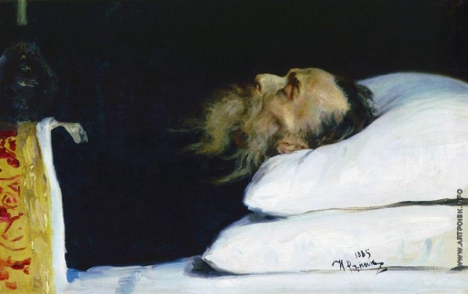 Репин И. Е. Историк Николай Иванович Костомаров в гробу
