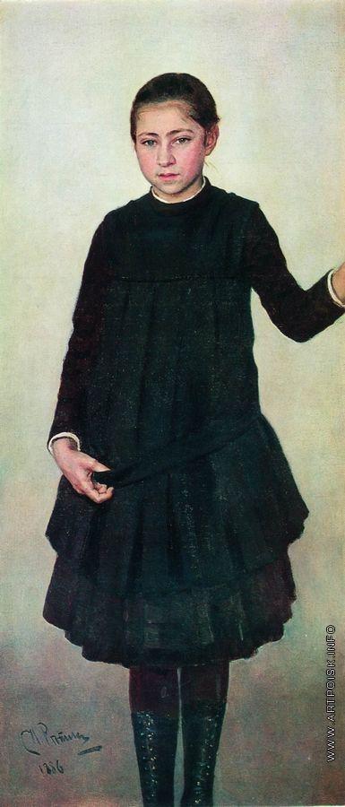 Репин И. Е. Портрет В.И.Репиной