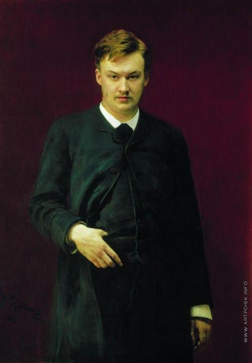 Репин И. Е. Портрет композитора А.К.Глазунова