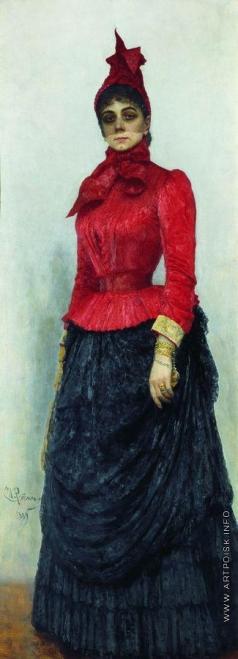 Репин И. Е. Портрет баронессы В.И.Икскуль фон Гильденбандт