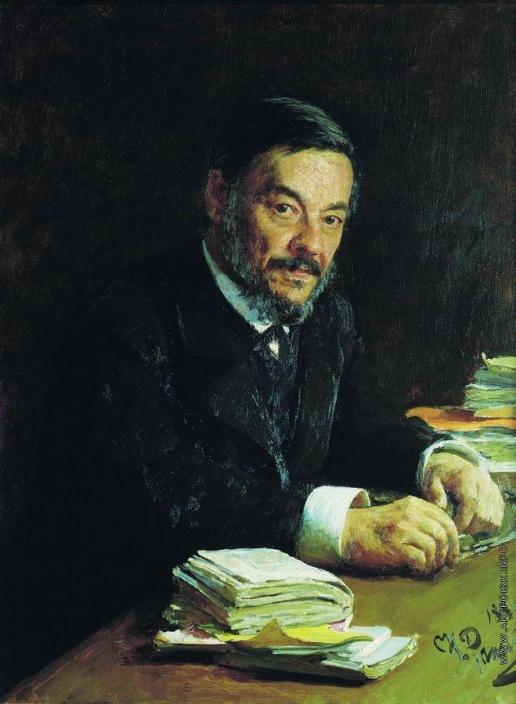 Репин И. Е. Портрет физиолога И.М.Сеченова