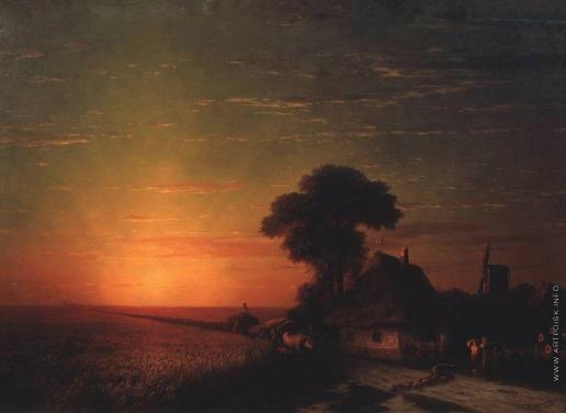 Айвазовский И. К. Закат солнца в Малороссии