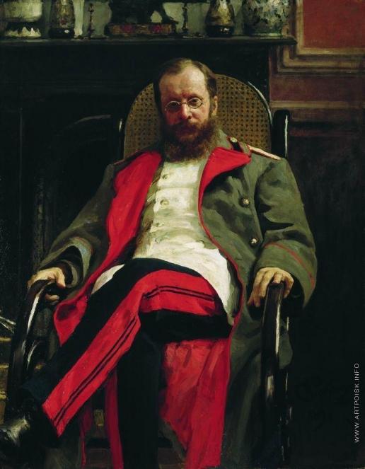 Репин И. Е. Портрет композитора Ц.А.Кюи