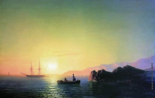 Айвазовский И. К. Закат солнца у крымских берегов