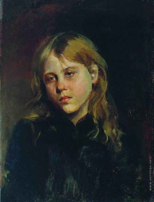 Максимов В. М. Портрет задумавшейся девушки