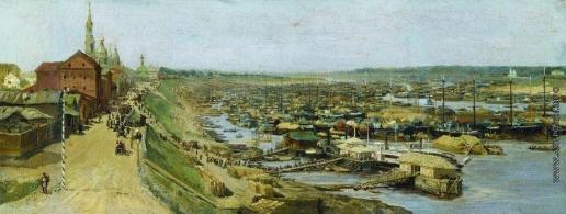 Максимов В. М. Вид города Рыбинска