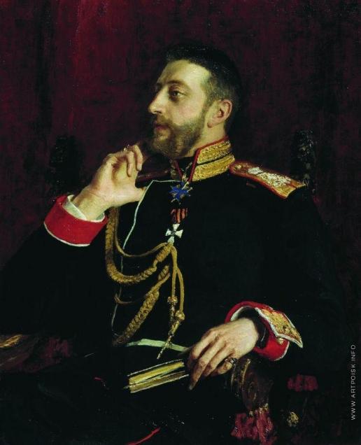 Репин И. Е. Портрет великого князя Константина Константиновича Романова