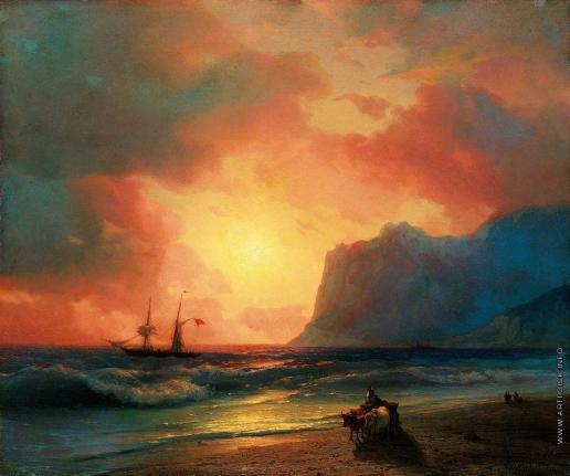 Айвазовский И. К. Заход солнца на море