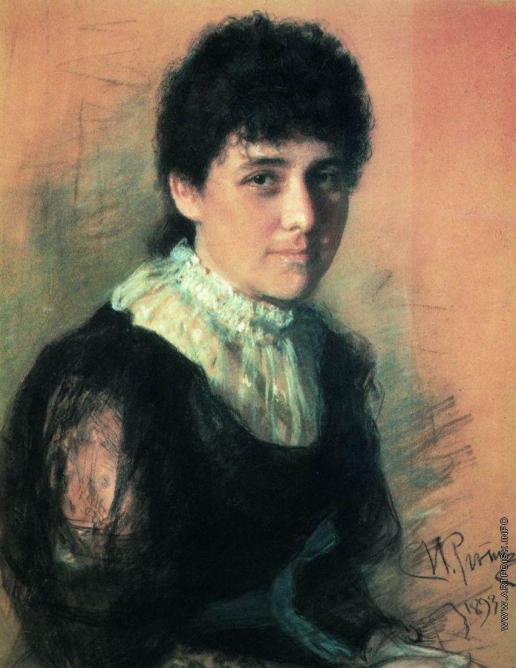 Репин И. Е. Портрет скульптора Е.П.Тархановой-Антокольской