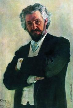 Репин И. Е. Портрет виолончелиста А.В.Вержбиловича