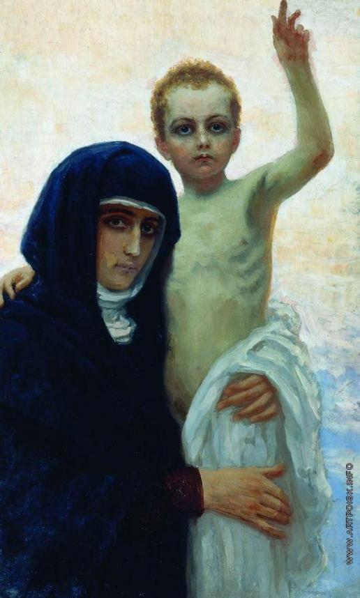 Репин И. Е. Богоматерь с младенцем
