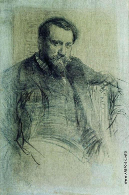 Репин И. Е. Портрет художника В.А.Серова