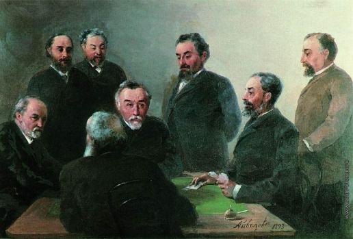 Айвазовский И. К. И.К.Айвазовский в кругу друзей