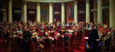 Репин И. Е. Торжественное заседание Государственного Совета 7 мая 1901 года в честь столетнего юбилея со дня его учреждения