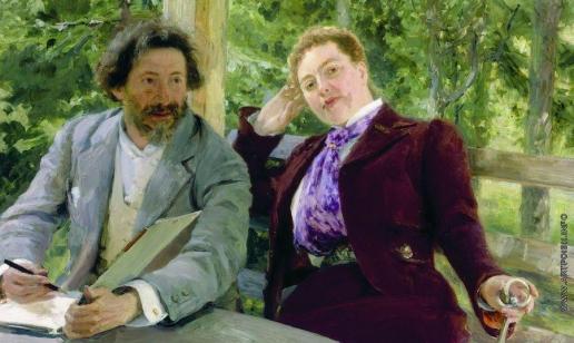 Репин И. Е. Автопортрет с Натальей Борисовной Нордман