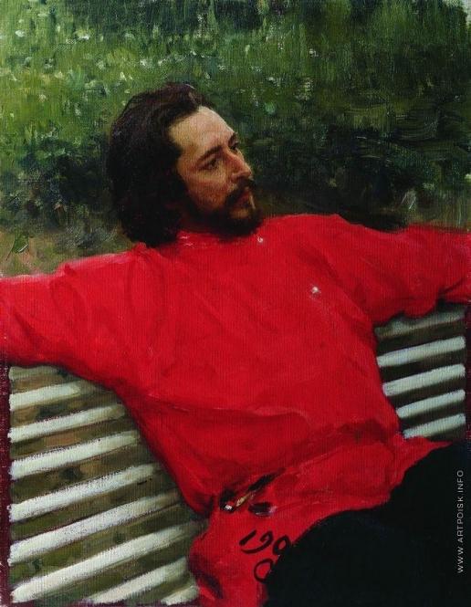 Репин И. Е. Портрет Л.Н.Андреева (Летний отдых)