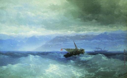 Айвазовский И. К. Кавказские горы с моря